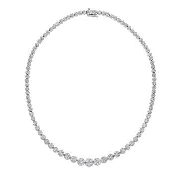 Noray Designs 14k White Gold 5ct TDW Diamond Cluster Necklace