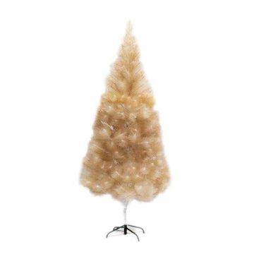 ALEKO Artificial Indoor Christmas Holiday Tree - 7 Foot - Gold Glitter