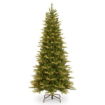 National Tree Company 7.5-ft Spruce Pre-Lit Traditional Artificial Christmas Tree with 600 Constant White Clear Incandescent Lights | PEGL8-302P-75
