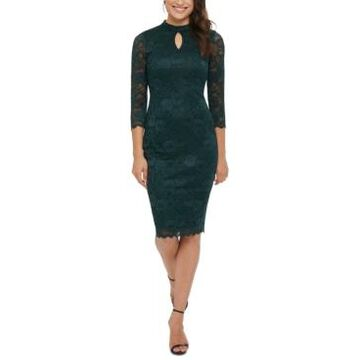 kensie Lace 3/4-Sleeve Bodycon Dress