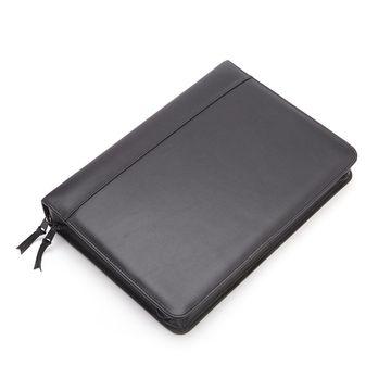 Royce Leather Executive Convertible Zip Around Binder Genuine Leather Portfolio