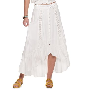 Juniors' American Rag High-Low Ruffle Hem Lace Skirt