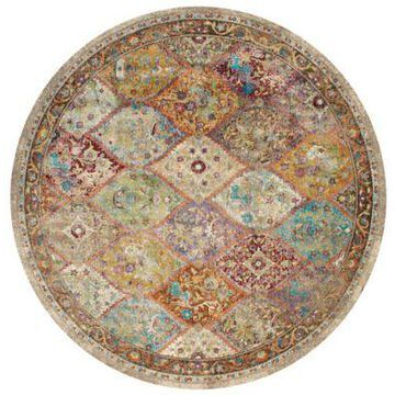 United Weavers Rhapsody Nash Court 7'10 Round Multicolor Area Rug