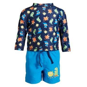 First Impressions Baby Boys Monster Rash Guard Set, Created for Macy's