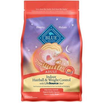 Blue Buffalo Indoor Adult Chicken and Brown Rice Recipe Dry Cat Food, 7-lb