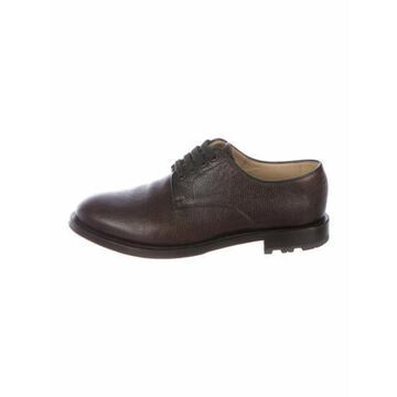 Leather Derby Shoes Brown