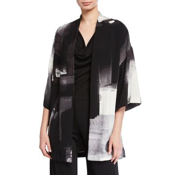 Brushstroke Silky Soft Easy Jacket