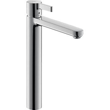 Hansgrohe Metris S Chrome 1-Handle Single Hole WaterSense Bathroom Sink Faucet with Drain   31020001