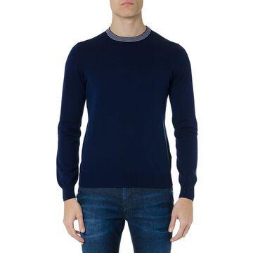Fay Blue Wool-cotton Blend Jumper