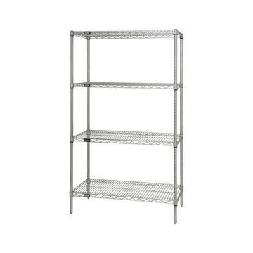 Quantum Storage Systems Wire 4 Shelf Starter Unit in Chrome Finish - 18