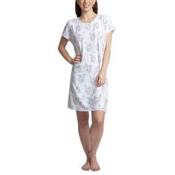 Muk Luks Printed Short Sleeve Sleepshirt Nightgown