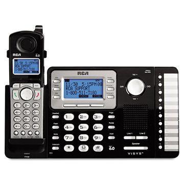 RCA ViSYS Cordless Expandable Phone System 2 Lines 1 Handset 25212