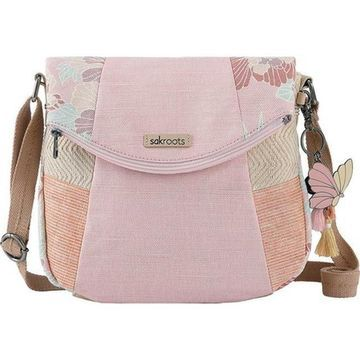 Sakroots Women's Artist Circle Fold Over Crossbody Petal Pink Flower Blossoms - US Women's One Size (Size None)