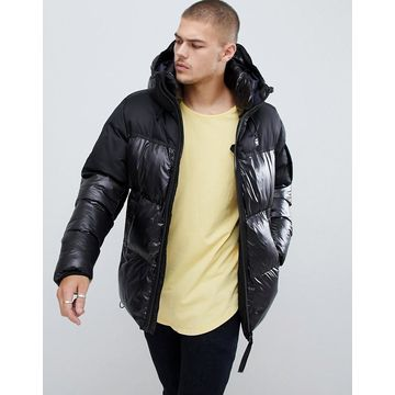 G-Star Whistler hooded quilted jacket in black