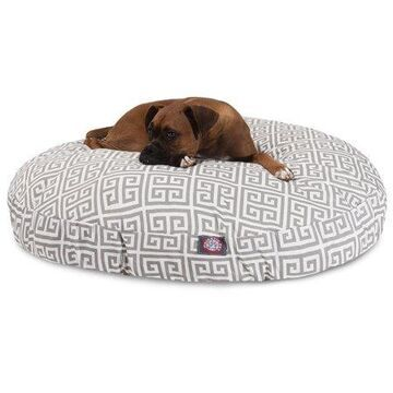 Majestic Pet Towers Round Dog Bed Treated Polyester Removable Cover Grey Large 42 x 42 x 5