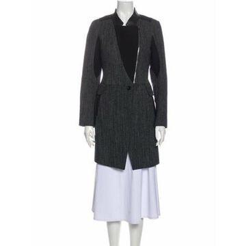 Tweed Pattern Coat Black