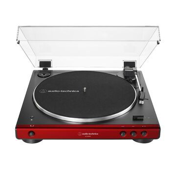 Audio-Technica AT-LP60XBT Bluetooth Fully Automatic Stereo Turntable (Red)