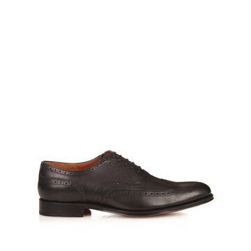 Grenson - Dylan Leather Brogues - Mens - Black