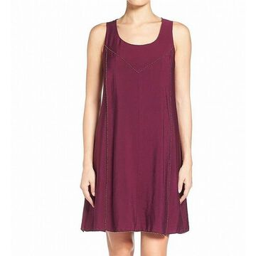 Two By Vince Camuto Womens Dress Purple Size Medium M Shift Embellished