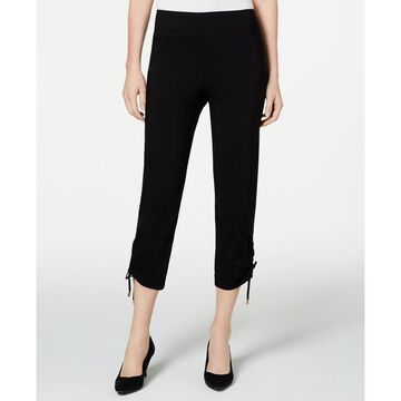 Ruched Tie-Hem Ankle Pants, Created for Macys