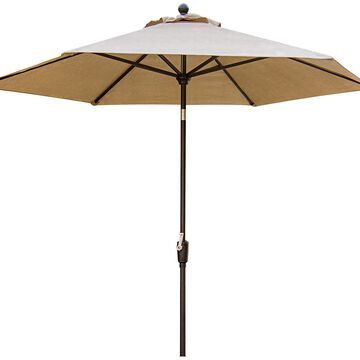 Hanover Brown Traditions 9 Tiltable Umbrella