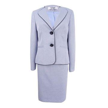 Le Suit Women's Two-Button Skirt Suit - Viola Multi - 4