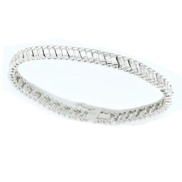 Michael Valitutti Sterling Silver Cubic Zirconia Bracelet