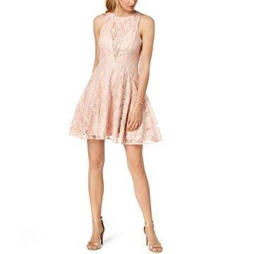 Xscape Womens Lace Fit & Flare Cocktail Dress