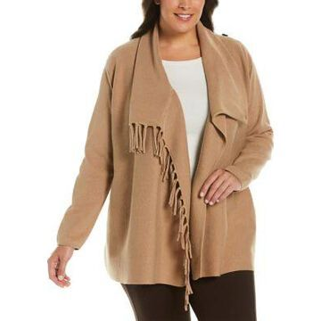 Rafaella Women's Plus Size Fringe Cardigan Sweater - -