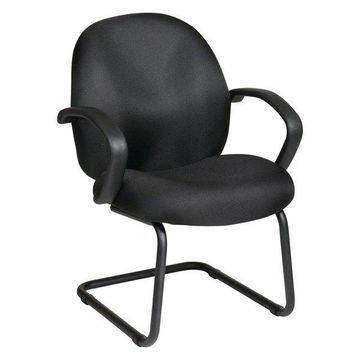 Office Star Matching Conference / Visitor Chair in Black