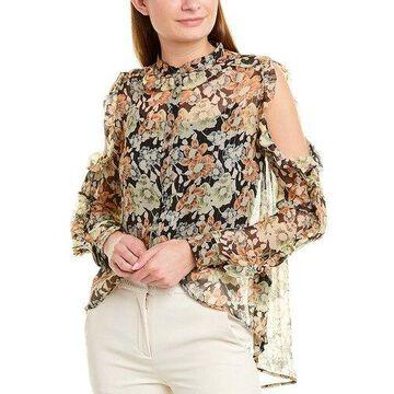 The Kooples Womens Silk-Blend Top