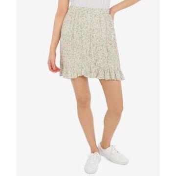 Hippie Rose Juniors' Ruffled Pull-On Skirt