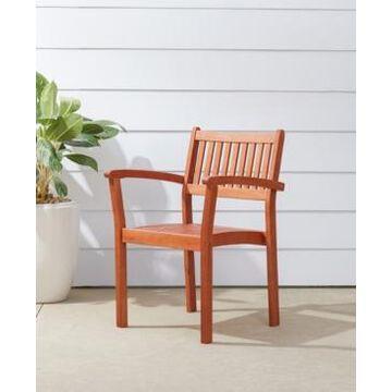 Vifah Malibu Outdoor Garden Stacking Armchair Set of 2