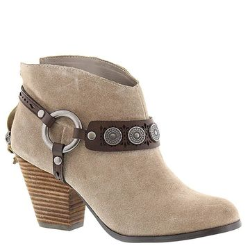 Yellow Box Womens Mandy Leather Almond Toe Ankle Fashion Boots