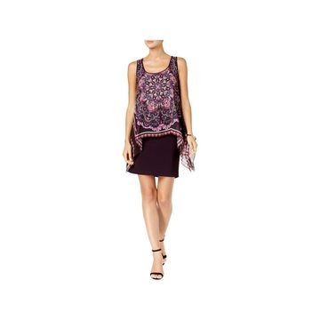SL Fashions Womens Cocktail Dress Printed Above-Knee