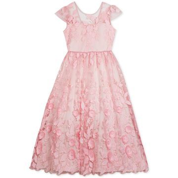 Big Girls Floral Embroidered Maxi Dress, Created for Macy's