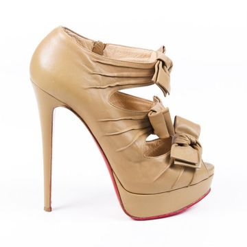 Christian Louboutin Brown Leather Heels