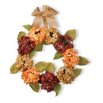 National Tree Company Artificial Mixed Hydrangea Wreath