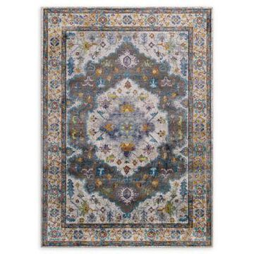 Modway Anisah Floral 8' x 10' Area Rug in Grey/Ivory