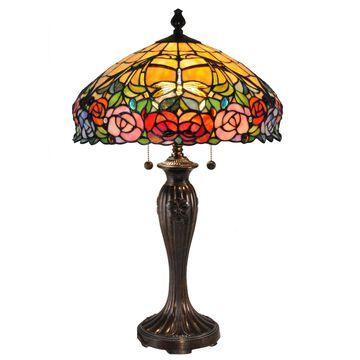 Dale Tiffany Zenia Rose Table Lamp