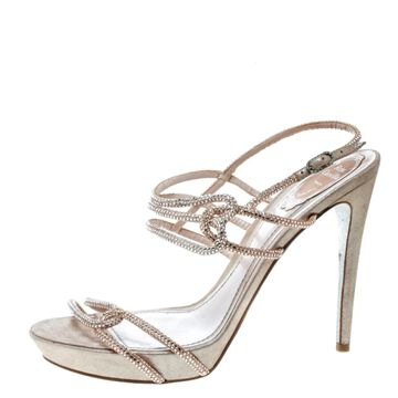 Rene Caovilla Pink Leather Sandals