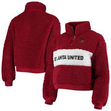 Atlanta United FC ZooZatz Women's Teddy Quarter-Zip Jacket Red