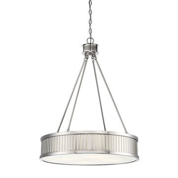 Savoy House William 4-Light Pendant in Polished Nickel
