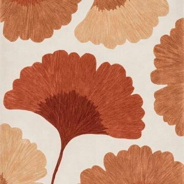 Loloi Rugs Flora Collection, Ivory and Rust, 5'x7'6
