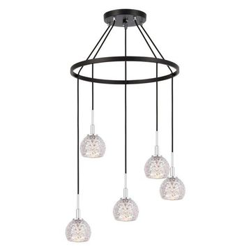 Woodbridge Lighting Elise Chandelier, Mercury Crystal Ball