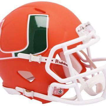 Miami Hurricanes Helmet Replica Mini Speed Style AMP Alternate