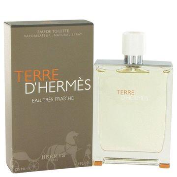 3 Pack Terre D'Hermes by Hermes Eau Tres Fraiche Eau De Toilette Spray 4.2 oz for Men