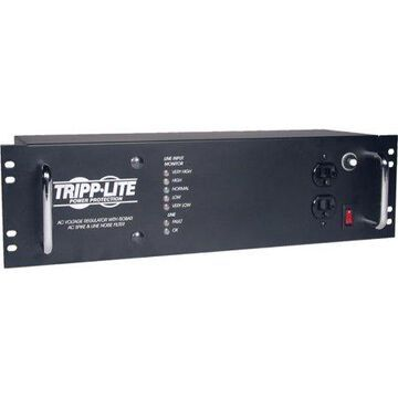 Tripp Lite 2400W 3U Rack Mount Power Conditioner, AVR, AC Surge Protection, 14 Outlets (LCR2400)