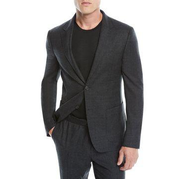 Men's Micro-Check Two-Piece Wash/Go Suit