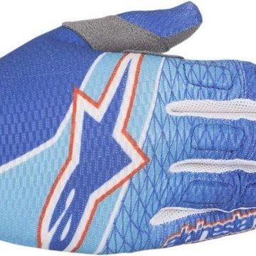Alpinestars 2017 Aviator Gloves - Blue Cyan Red
